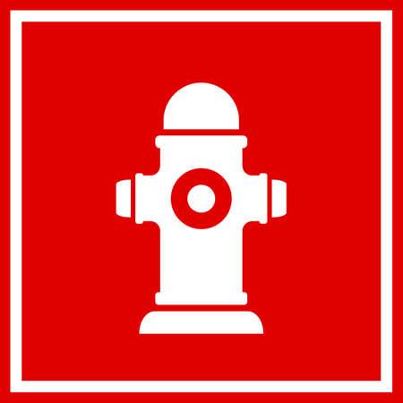 Fireplug vierkant vectorteken