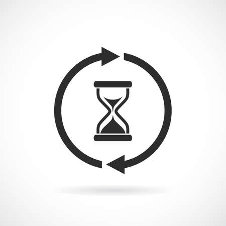 Waiting time web pictogram on white background, vector illustration.