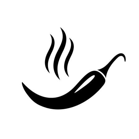 Hot and spicy pepper icon on white background, vector illustration. Illustration