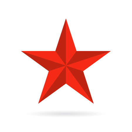 Five pointed star vector icon Illustration