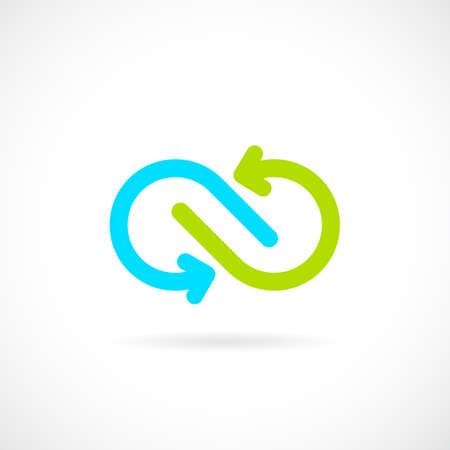 Infinite arrows vector logo