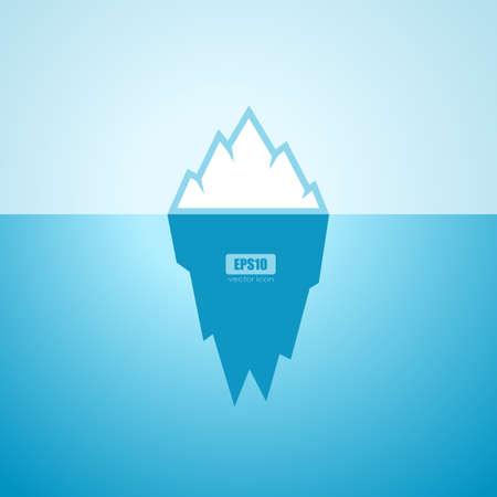 Iceberg in ocean vector poster