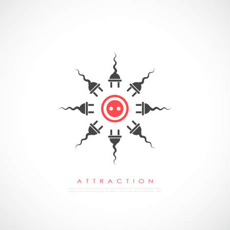 Attraction vector icon