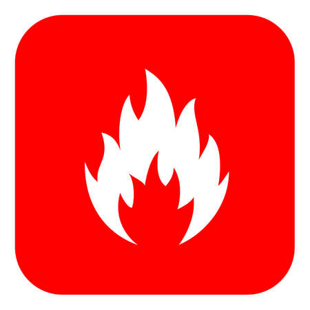 Flame shape icon. Illustration