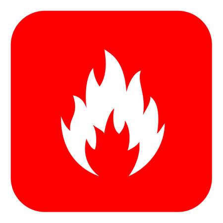 Flame shape icon. Stock Illustratie