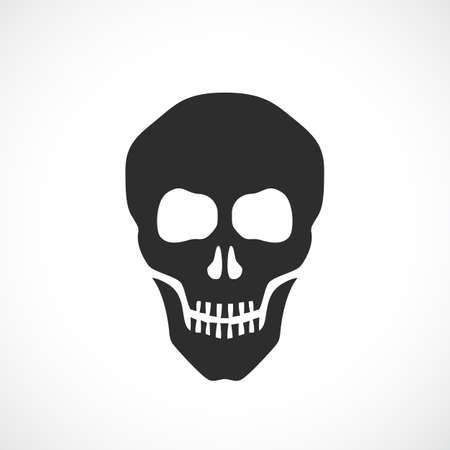 Skull death vector sign