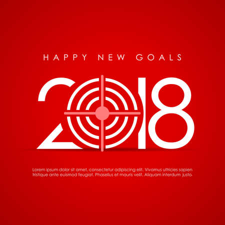 Happy New goal greeting card design.