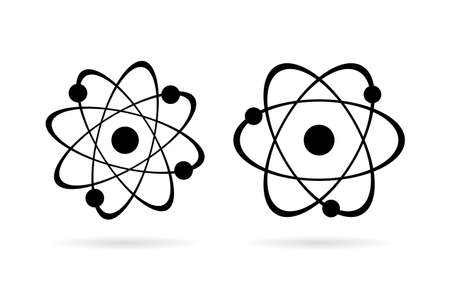Atom vector icon set
