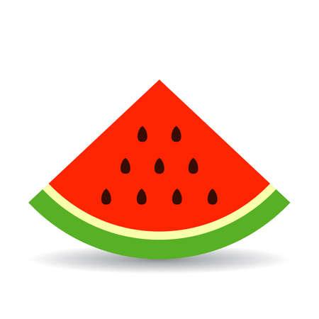Driehoek stuk van watermeloen vector pictogram Stockfoto - 91959660