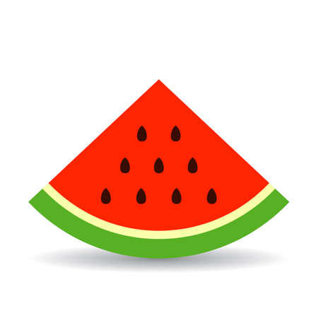 Triangle piece of watermelon vector icon