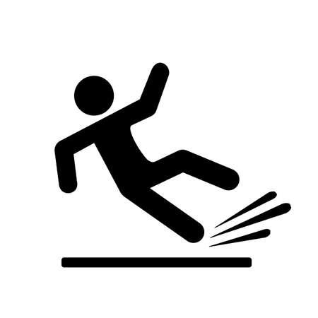 Pictogramme de silhouette de chute de personne