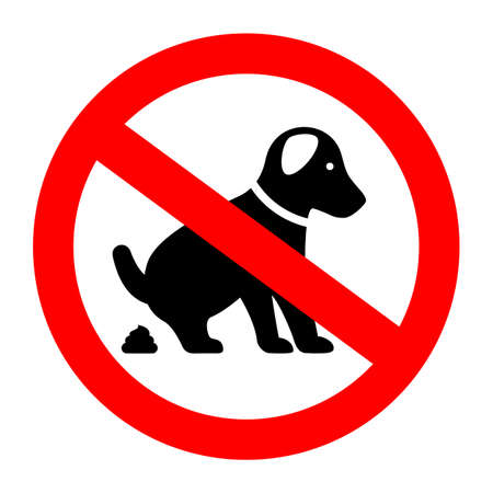 No dog poop vector sign