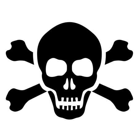 Skull and bones mortal symbol Иллюстрация