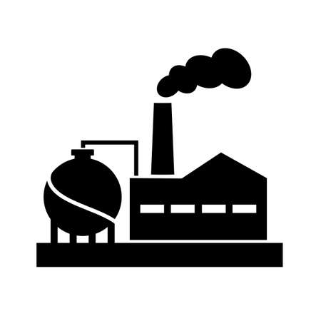 Old factory vector silhouette pictogram