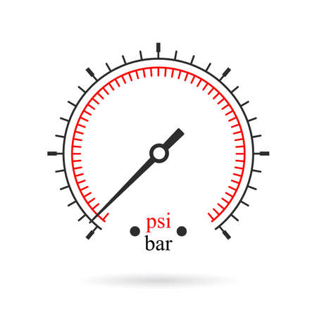 Scale of manometer vector illustration