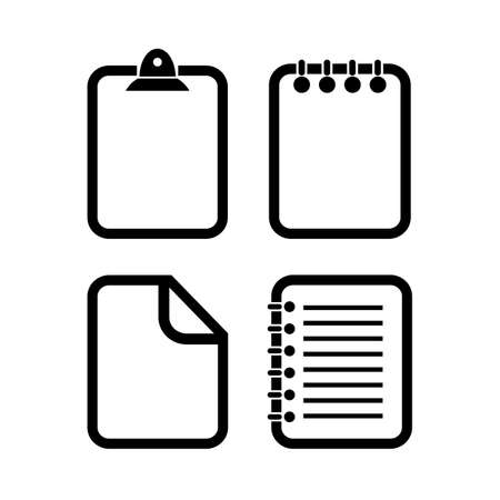 Document outline vector icons