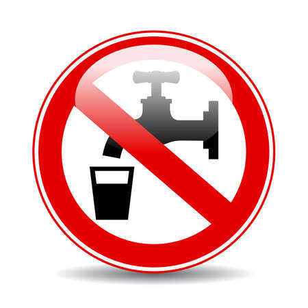 Nonpotable water warning vector sign