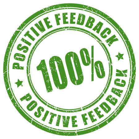 Positive feedback trusted seller stamp Vectores