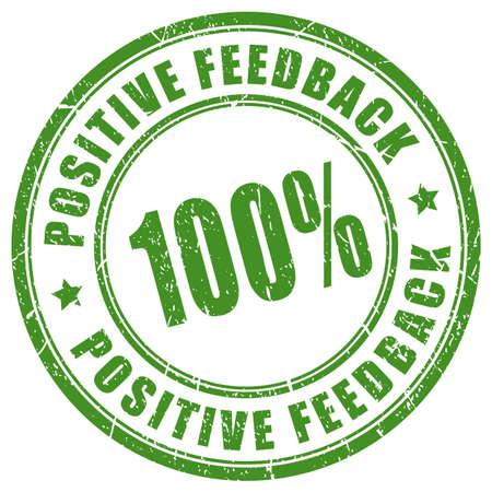 Positive feedback trusted seller stamp Stock Illustratie