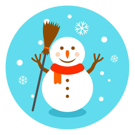 Colorful snowman vector illustration Illustration