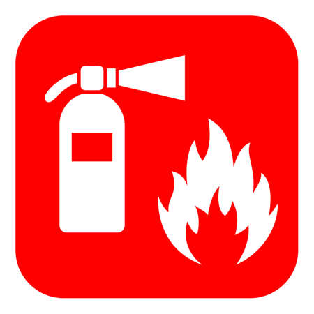 Firefighting vector icon Illustration
