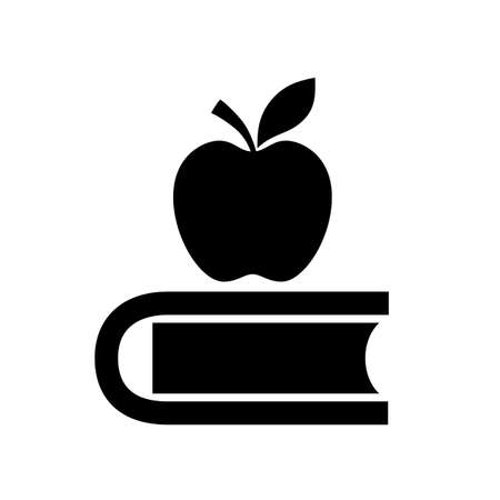 Book and apple education icon