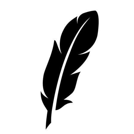 Quill silhouette vector icon Illustration