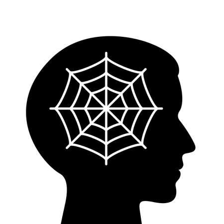 Icono de vector de cabeza humana vacía. Ilustración de vector
