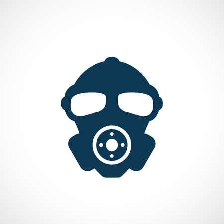 Gas mask vector icon. Stock Illustratie