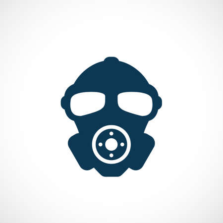 Icono de vector de máscara de gas.