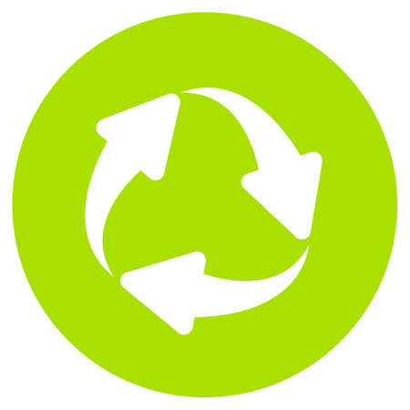 Eco cycle green vector symbol Vectores