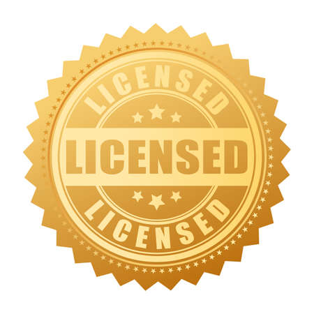 Licensed product vector gold seal.