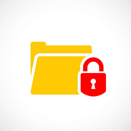 Password protected web folder icon Фото со стока - 92856576