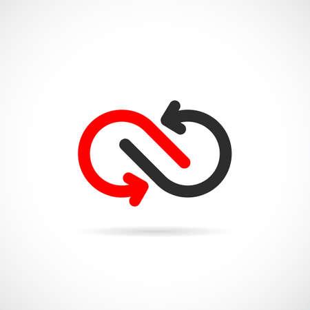 Loop arrows vector logo design