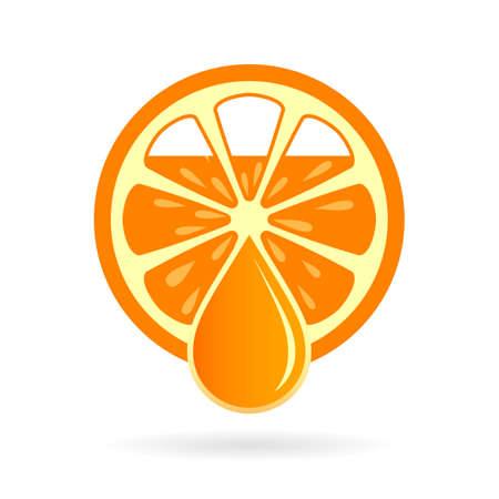 Orange juice vector icon
