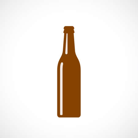 Silhouette of glass beer bottle.