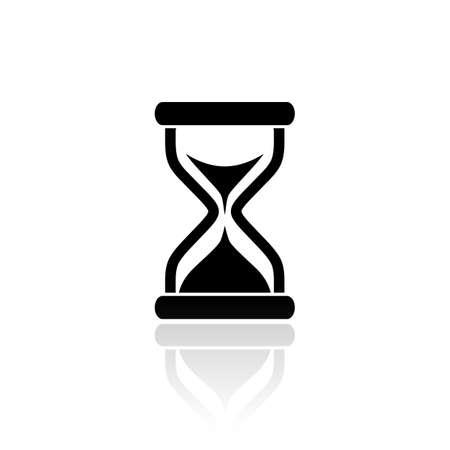 Hourglass vector icon.