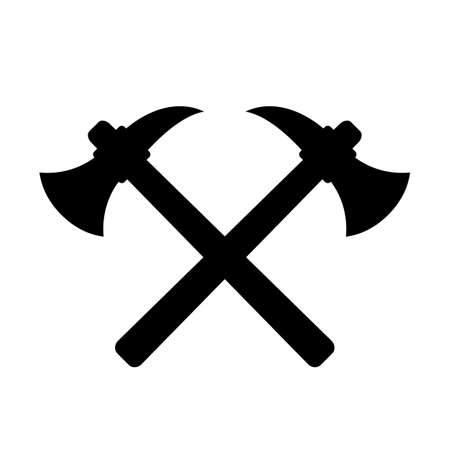 Retro labour emblem crossed axes