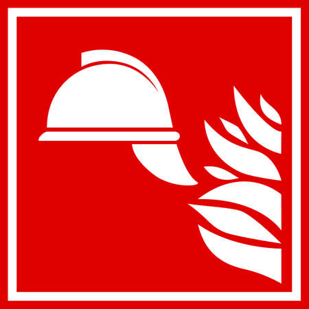 Firefighting vector emblem