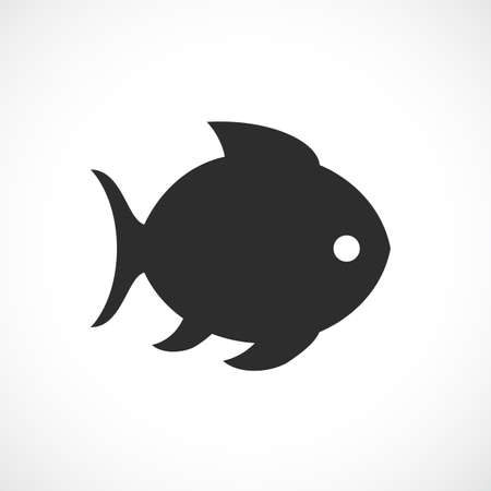 Fish silhouette vector icon