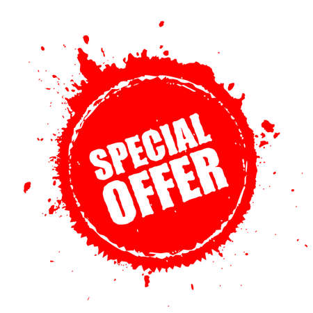 Special offer blot splash icon