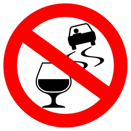 Dont drink and drive vector sign Illustration