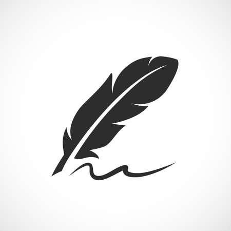 Antiguo icono de vector de caligrafía
