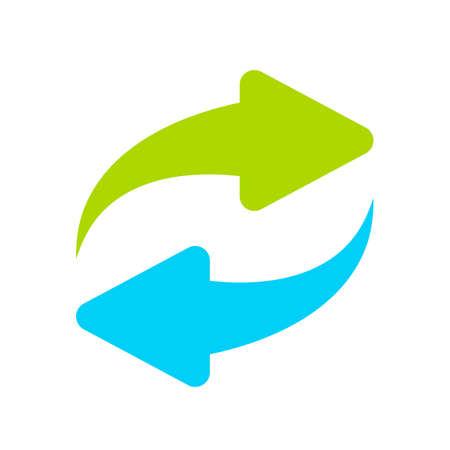 Reload icon symbol in colored illustration.