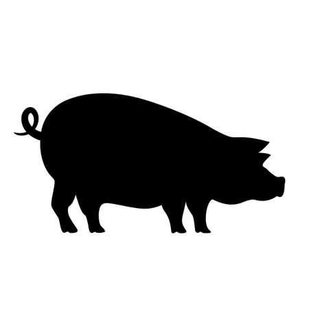 Pig vector pictogram