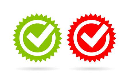 Acceptance tick vector icon