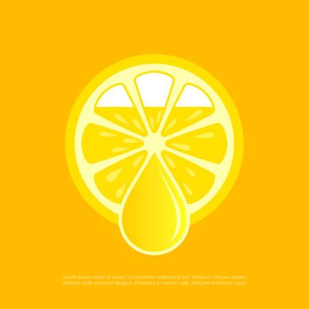 Lemon fresh juice vector poster.