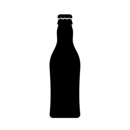 Beer bottle black silhouette icon