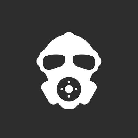 Human face in respirator vector icon Illustration