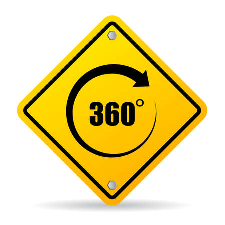 360 degree vector sign Illusztráció